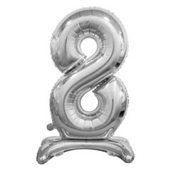 Цифра 8 Серебряная на подставке