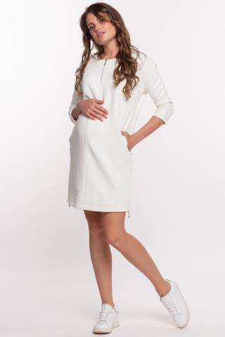 Платье для беременных 09738 кремовый