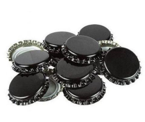 Кронен-пробки для стеклянных бутылок, черная 50шт.