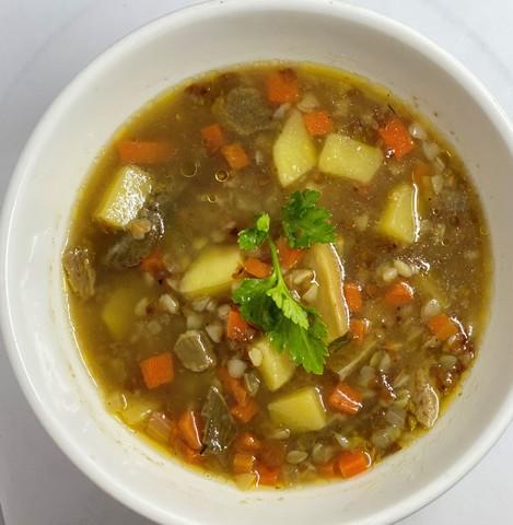 Постный суп с грибами