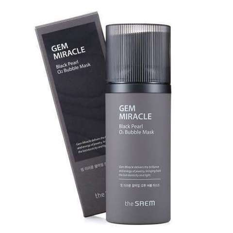 The Saem Gem Miracle Black Pearl O2 Bubble Mask_R