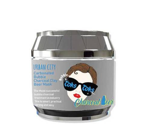Baviphat Urban City Carbonated Charcoal Clay Beer Mask маска для лица глиняно-пузырьковая очищающая