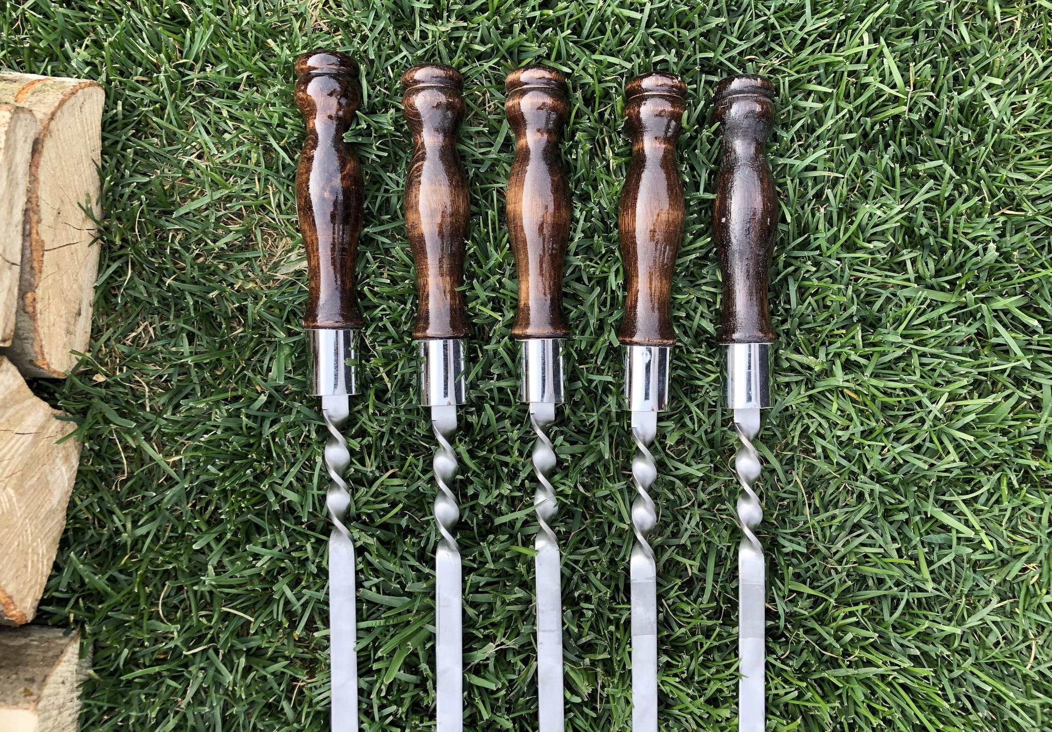 Шампуры из нержавейки Шампур с деревянной ручкой 3мм (ширина 12мм) №6 IMG_3766.JPG