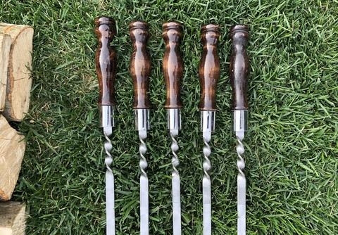 Шампур с деревянной ручкой 3мм (ширина 12мм) №6