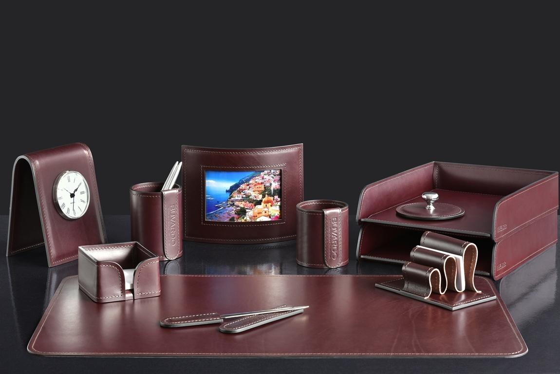 набор руководителя с часами и рамкой для фото  из кожи bologna