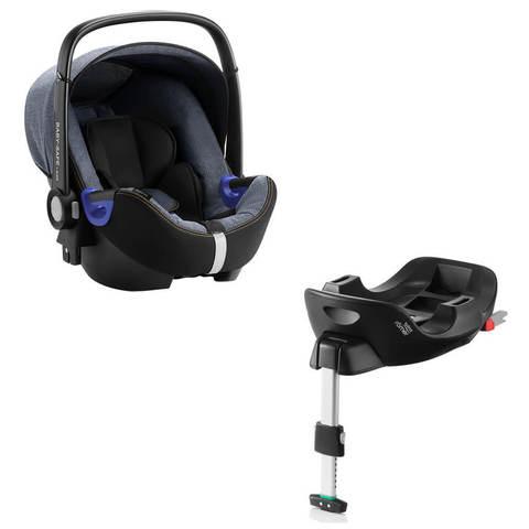 Автокресло Britax Roemer Baby-Safe2 i-Size Blue Marble + Base Flex Isofix