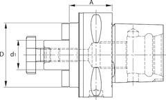 Оправка для насадной фрезы с каналами для подвода СОЖ PSC-63 особо короткая