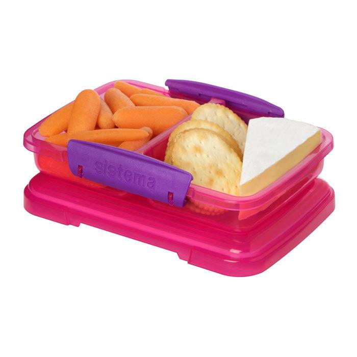 """Контейнер Sistema """"Lunch"""", двойной, 350 мл, цвет Розовый"""