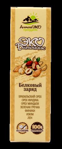 """Эко-батончик фруктово-ореховый """"Белковый заряд"""" без сахара, 45 г"""