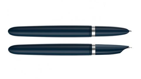 Перьевая ручка Parker 51 CORE MIDNIGHT BLUE CT, перо F123