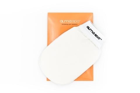 ALMASPA, Рукавица для пилинга белая