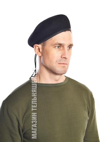 Купить бесшовный черный берет - Магазин тельняшек.руБерет ВМФ бесшовный в Магазине тельняшек
