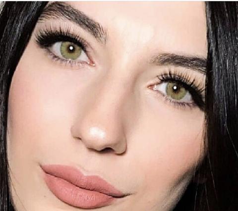 Marquise green (lemon) Светло зеленые Линзы для тёмных глаз