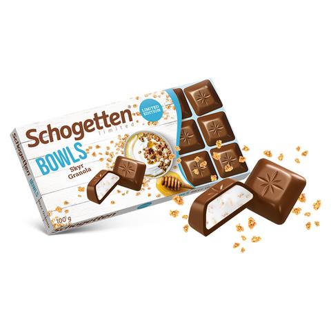 Шоколад молочный Schogetten Bowls Granola & Cream со сливочной начинкой и гранолой 100 гр