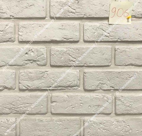 Клинкервиль 906, цвет белый - Искусственная плитка под покраску для имитации кирпичной кладки