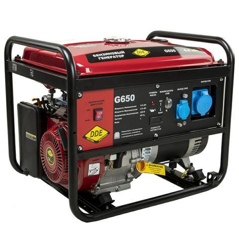 Генератор бензиновый DDE G650 (1ф 6,0/6,5 кВт бак 25 л 81 кг дв-ль 14 л.с.) (917-422)