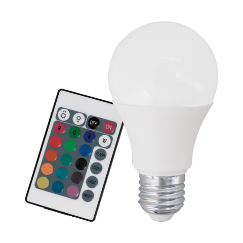 Лампа RGB LED диммир. с пультом ДУ Eglo RGB-W INFRARED LM-LED-E27 7,5W 470Lm 3000K A60 10899