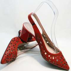 Женские босоножки туфли под джинсы G.U.E.R.O G067-TN Red.