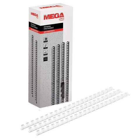 Пружины для переплета пластиковые Promega office 10 мм прозрачные (100 штук в упаковке)