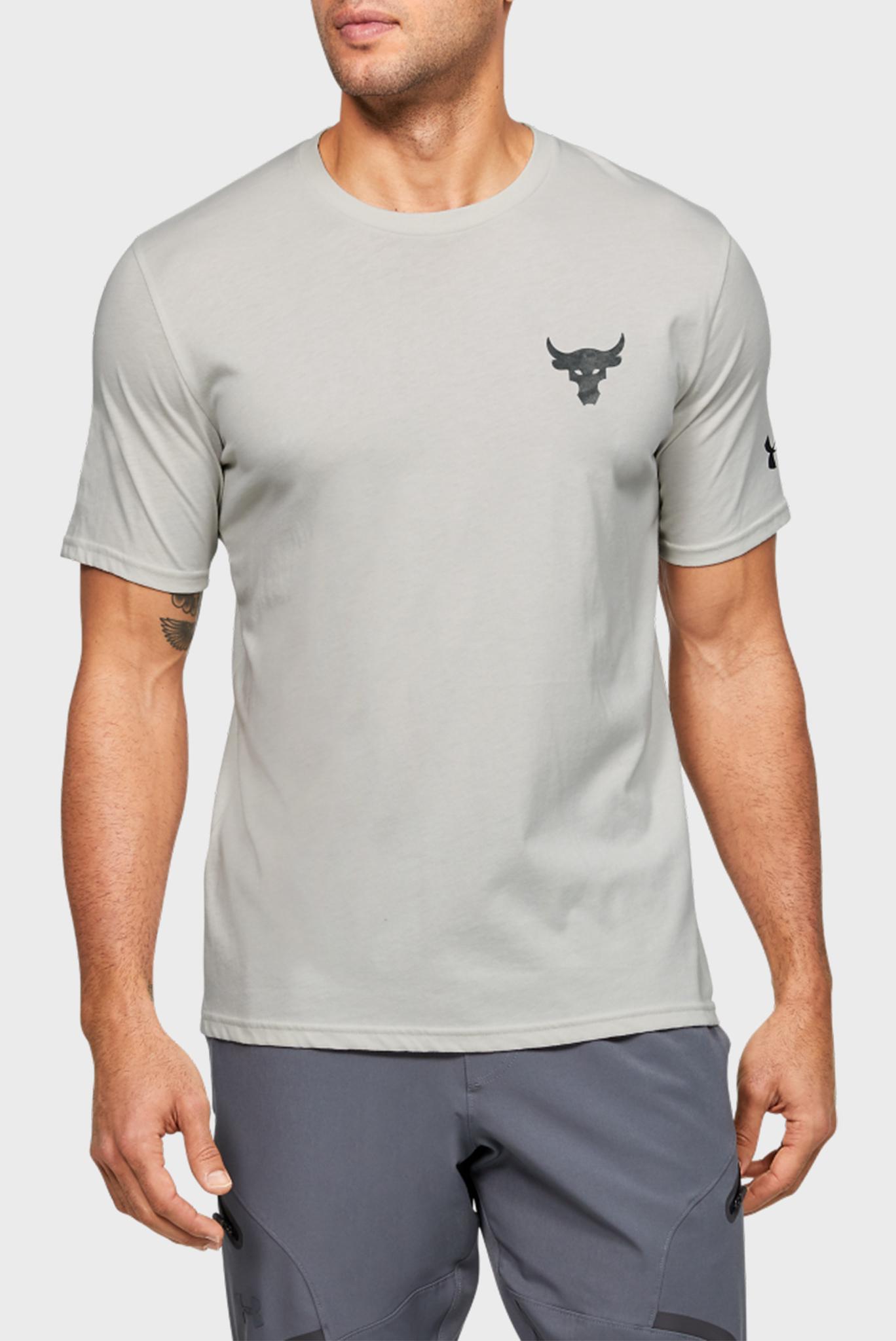 Мужская серая спортивная футболка Project Rock Snake SS Under Armour