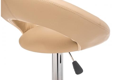 Барный стул Oazis бежевый 51*51*80 Бежевый кожзам /Хромированный металл каркас
