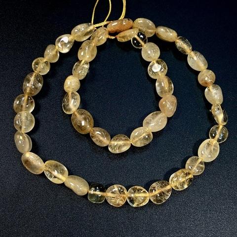 Бусины кварц рутиловый золотой произвольная форма 8-12 мм