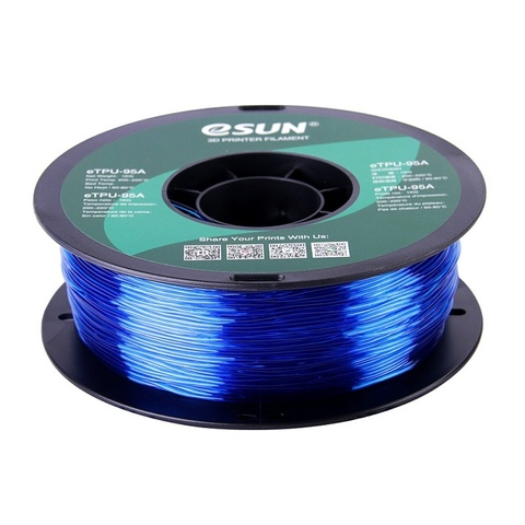 ESUN eTPU95A, 1.75 мм, 1 кг, прозрачно-синий