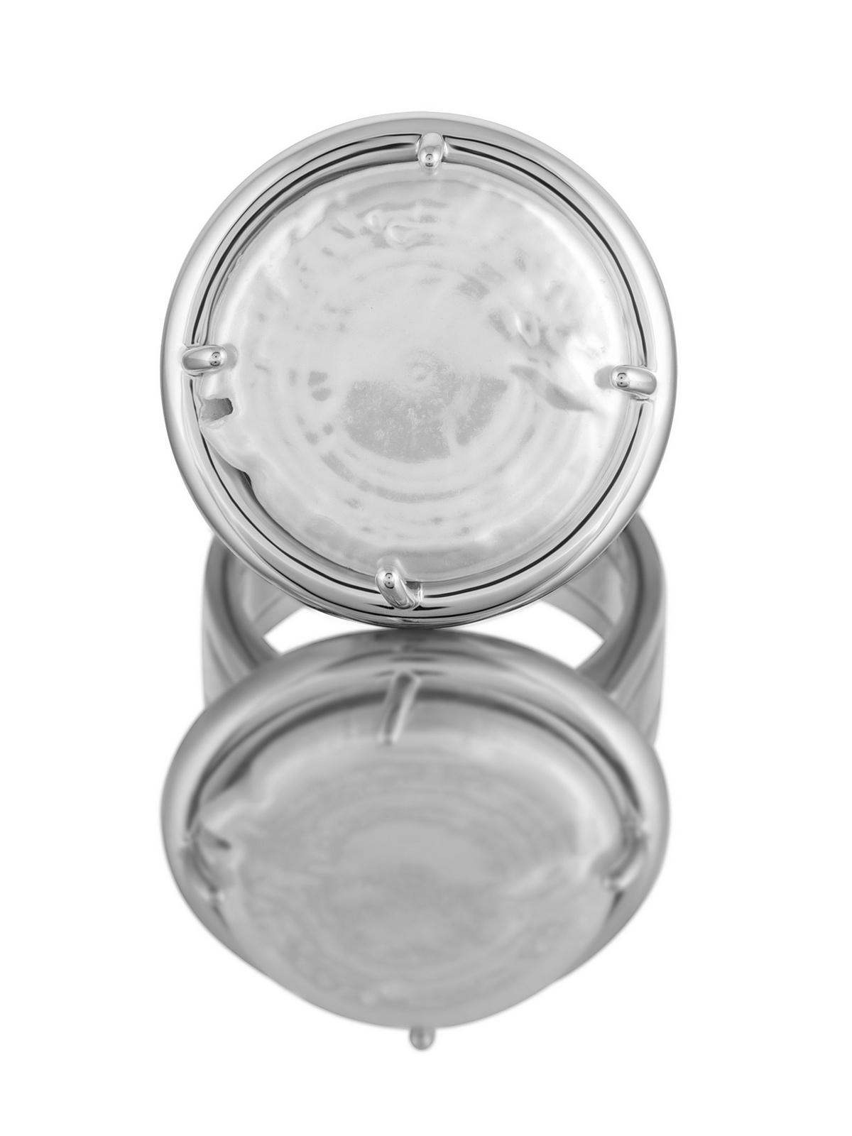 Кольцо с белым барочным жемчугом