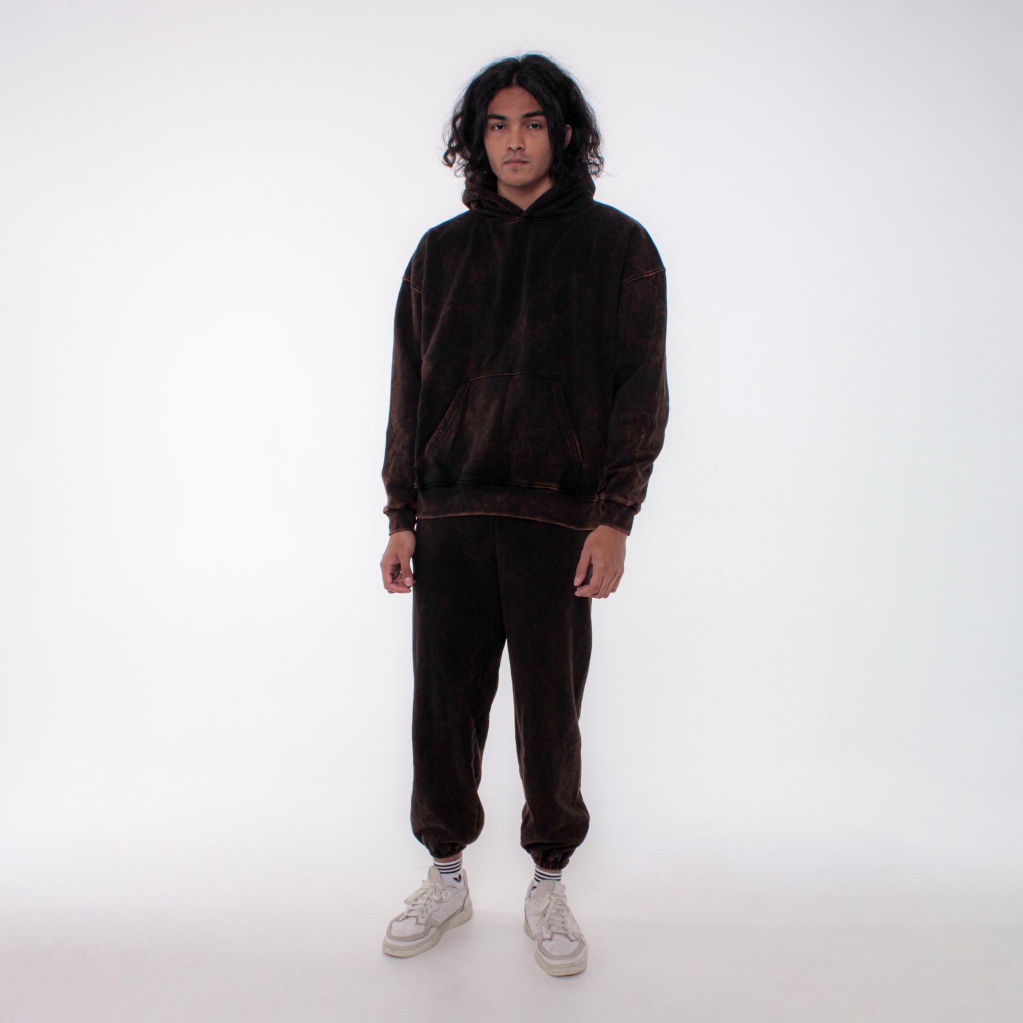 Вареный костюм оверсайз с начесом 616 Basic