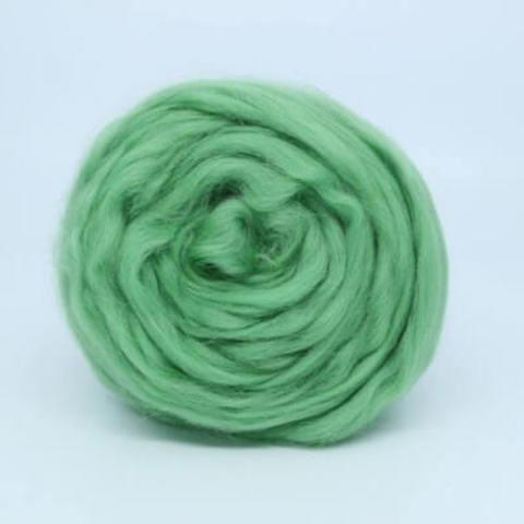 Шерсть для валяния Полутонкая (Троицкая) 580 Зеленое яблоко