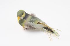Птичка с пятнистыми крыльями, 9 см с хвостом, 1 шт.
