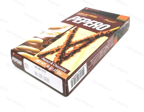 Соломка в шоколадной глазури Pepero Peanut, Корея, 36 гр.