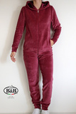 Красный велюровый костюм с капюшоном B&B