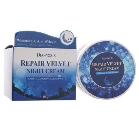 DEOPROCE MOISTURE Крем для лица ночной восстанавливающий DEOPROCE MOISTURE REPAIR VELVET NIGHT CREAM 100гр