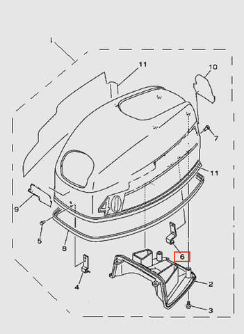 Крючок для лодочного мотора T40 Sea-PRO (1-6)