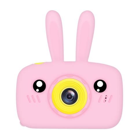 Фотоаппарат детский SmileZoom Зайчик с селфи-камерой / Розовый