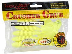 Твистеры съедобные LJ Pro Series Crusher Grub 3.9 in (99 мм), цвет S88, 5 шт