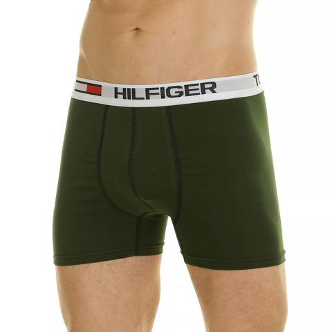 Мужские трусы боксеры тёмно-зеленые Tommy Hilfiger 44892