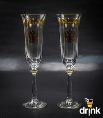 Подарочный набор из 2 хрустальных фужеров для шампанского «Министерский», 190 мл, фото 1