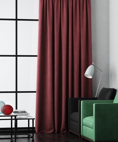 Готовая штора Калипсо бордовый