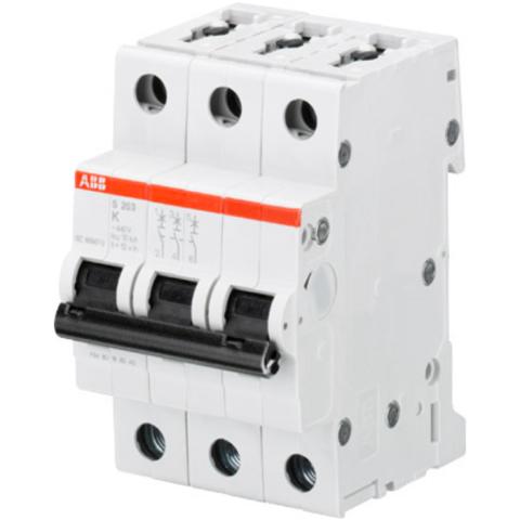 Автоматический выключатель 3-полюсный 10 А, тип K, 10 кА S203M K10. ABB. 2CDS273001R0427