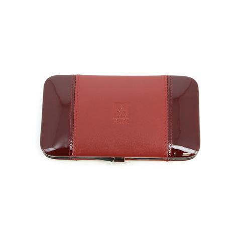 Маникюрный набор Dewal, 5 предметов, цвет красный, кожаный футляр