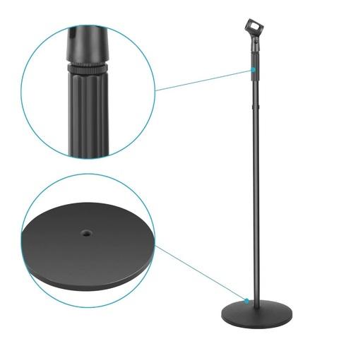Стойка для микрофона прямая с круглым основанием 180см