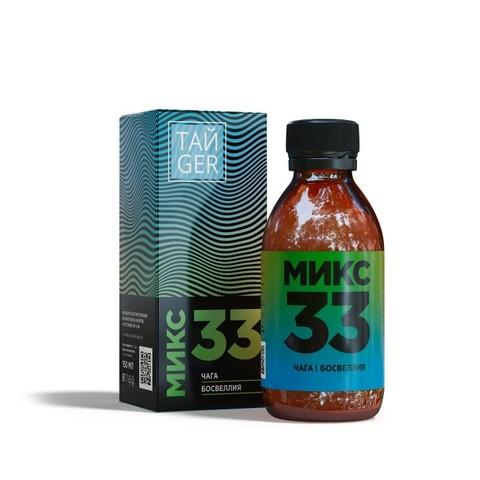 ТАЙGER Микс 33 (клеточный сок чаги) 150 мл