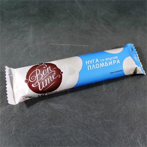 Батончик BON TIME Нуга Пломбир 20 г Яшкино РОССИЯ