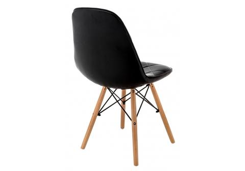 Стул деревянный кухонный, обеденный, для гостиной Eames PC-147 черный 44*44*83 Бук /Черный