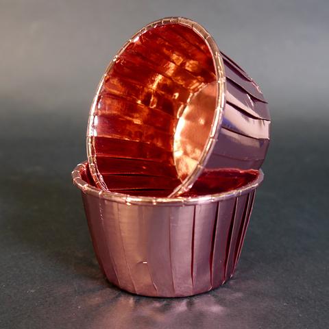 Капсулы для мафинов Polca Dot розовый металлик 50*40, 20шт.