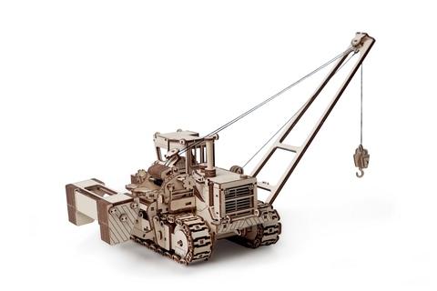 Трубоукладчик от Lemmo. Деревянный 3D пазл, конструктор, сборная модель.