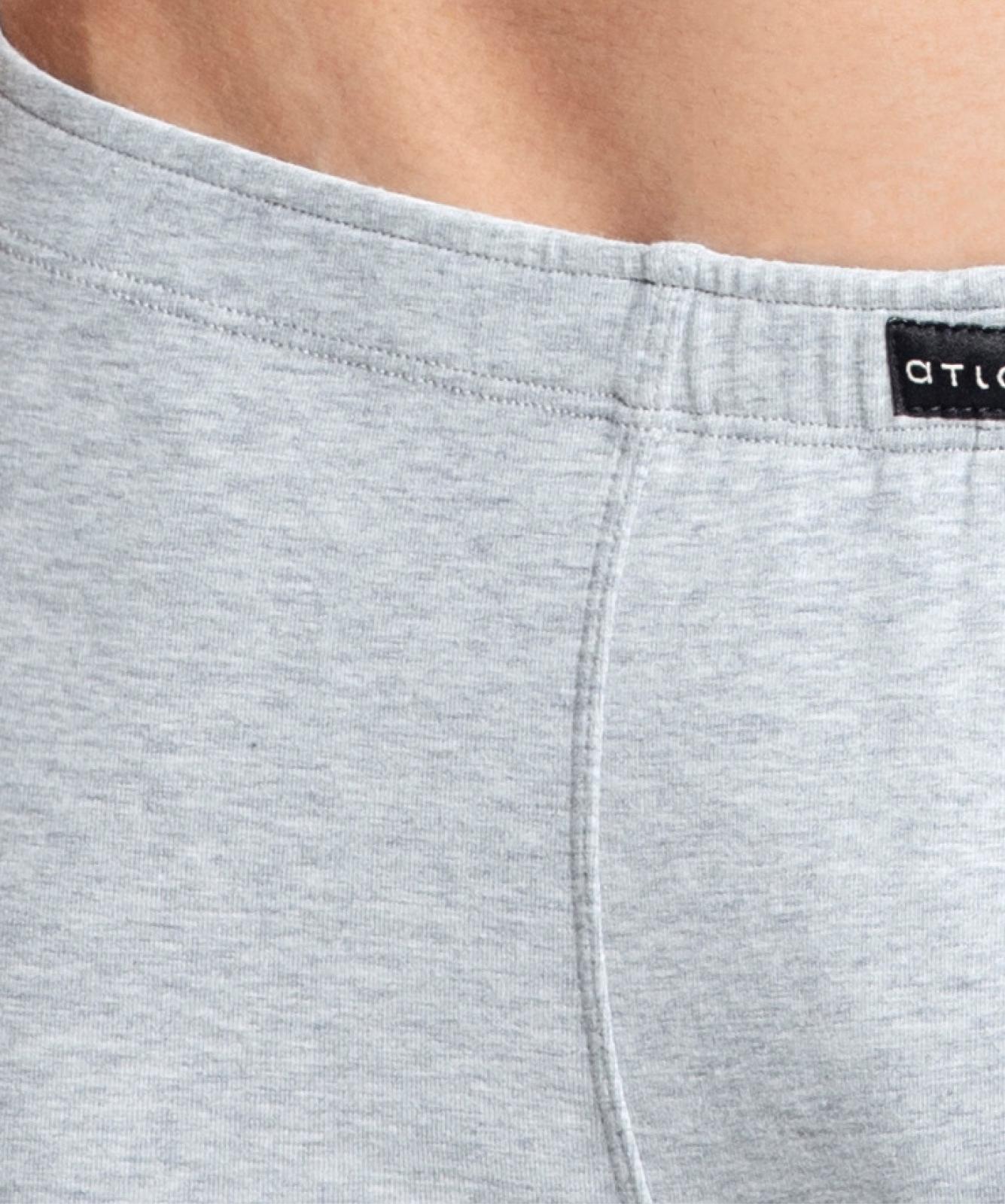Мужские трусы шорты Atlantic, набор из 3 шт., хлопок, темно-синие + серый меланж + графит, 3MH-007
