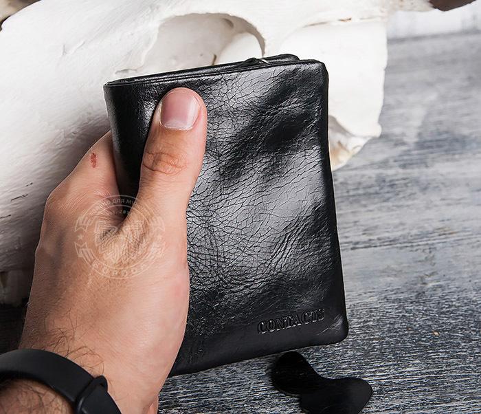 WL280-1 Вместительный мужской кошелек с монетницей фото 14